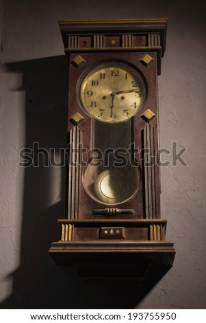 Wall Hanging Grandfather Clock old wooden grandfather clock hanging on stock photo 113072962
