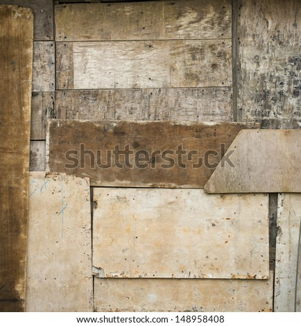 old wooden grunge background - stock photo