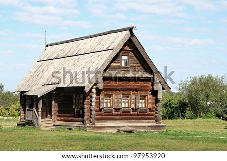 Old wooden house - stock photo