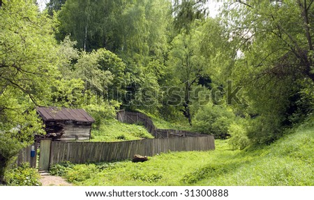 Old wooden house in the russian village