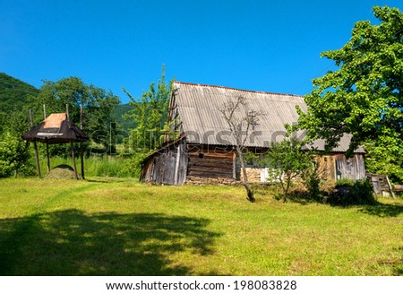 Old wooden house in Ukraine