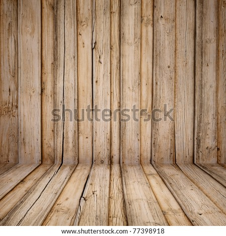 old wooden interior - stock photo