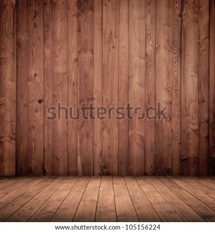 old wooden interior room.