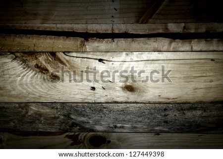 Old wooden pallets background - stock photo