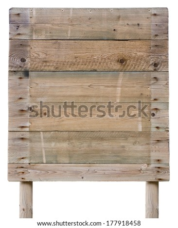 Old wooden paneling board isolated on white as a background - stock photo
