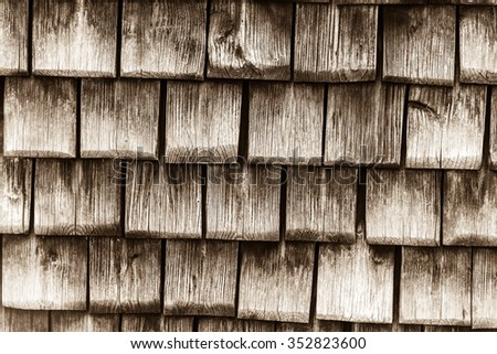 Old wooden planks surface background. shabby sepia texture