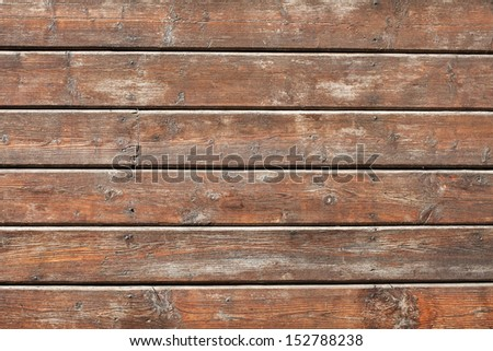 Old wooden planks wall background