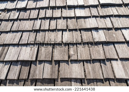 old wooden roof perfectly as backround - stock photo