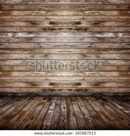 Old wooden room, Background element.