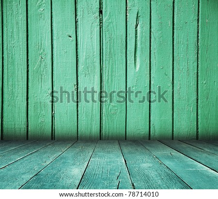 old wooden room, vintage background - stock photo