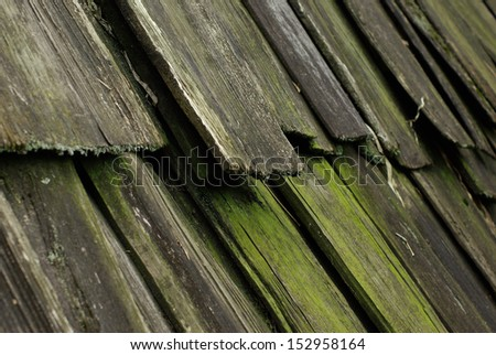 old wooden shingles - stock photo