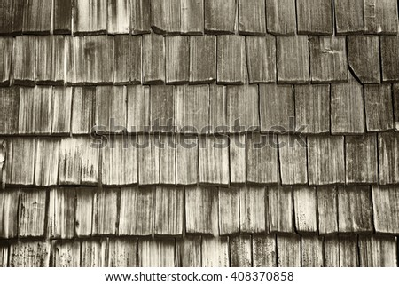 old wooden shingles at a hut - nice background