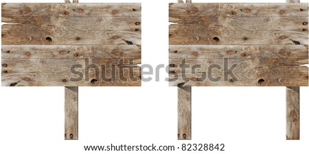 old wooden sign - stock photo