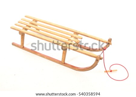 old wooden sled