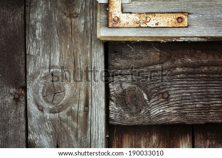 old wooden structure - stock photo