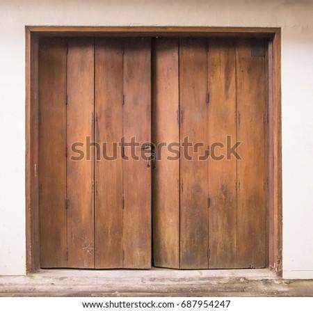old wooden swing door background vintage of old wooden folding doors texture antique swing