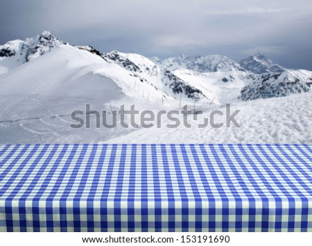 Old wooden table for Your photo montage - stock photo