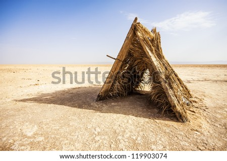 Old wooden tent in the salt lake of Chott El Djerid Tunisia. & Old Tent Stock Images Royalty-Free Images u0026 Vectors | Shutterstock