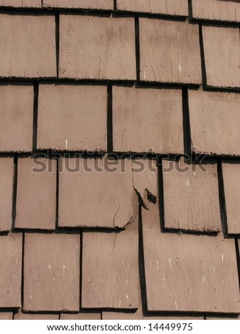 Old wooden tiles II - stock photo