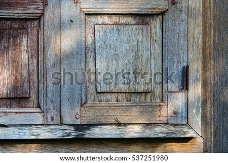 Old wooden wall background,Thai traditional house style.
