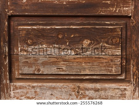 Old wooden wall textured background - stock photo