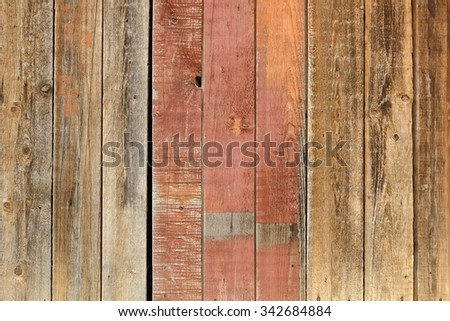 Old wooden washed out wall - stock photo