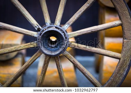 old wooden wheel - soft photo
