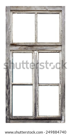 Old wooden window  - stock photo