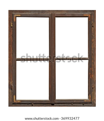 Window Frame Isolated Stock Royalty Free