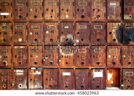 Old woods letterboxes