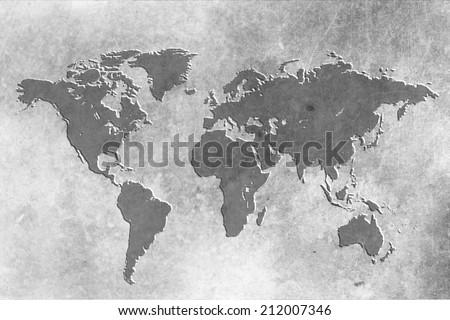 Old World Map Illustration Stock Illustration Shutterstock - Old world map black and white