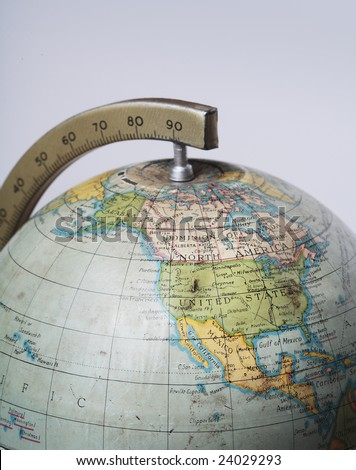 United States Globe Stock Images RoyaltyFree Images Vectors - Us map on globe