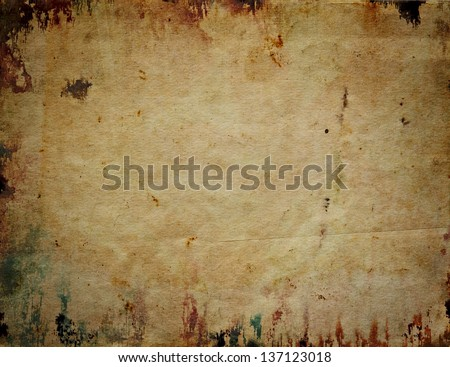 old wrinkled paper for scrapbook - stock photo