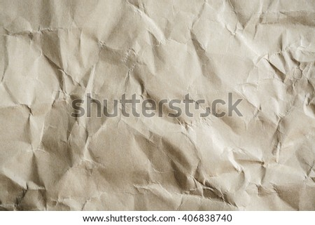 old wrinkled paper textured and background - stock photo