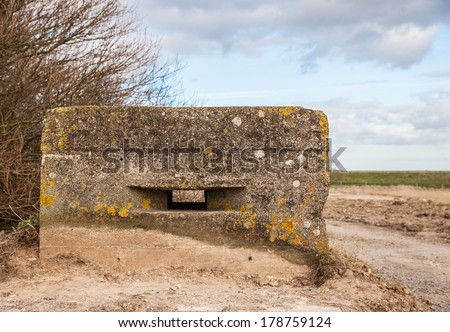 old ww2 pillbox in Lincolnshire