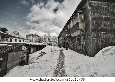 Old yard. - stock photo