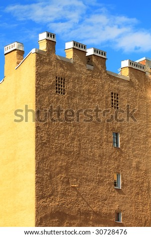 Old yellow building - stock photo