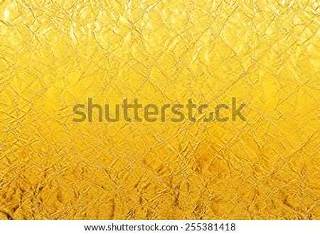 old yellow grunge background - blank crumpled paper - stock photo