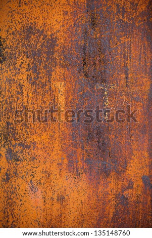 Old yellow rusty metal surface grounge background - stock photo
