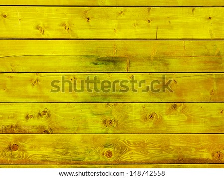Old yellow wood wall texture background  - stock photo