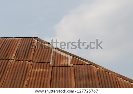 Old zinc roof