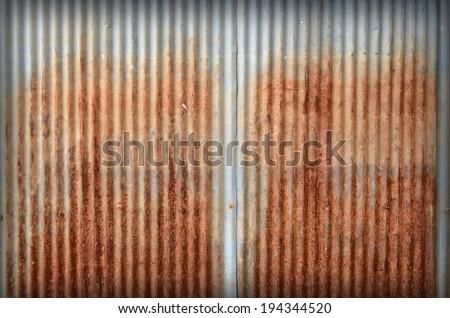 old zinc texture,rusty corrugated iron metal  - stock photo