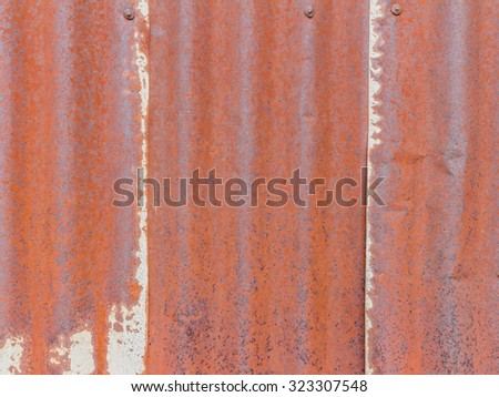 old zinc texture,rusty corrugated iron metal - stock photo