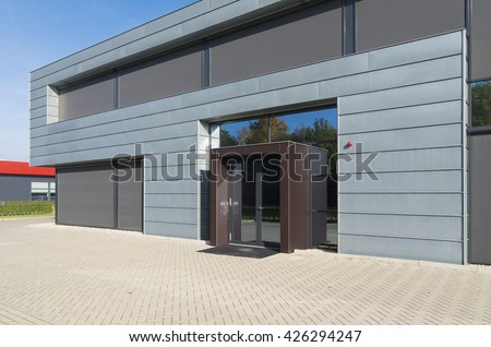 office exterior. oldenzaal netherlands october 31 2015 modern office building exterior on a small