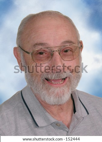 Older man with glasses.