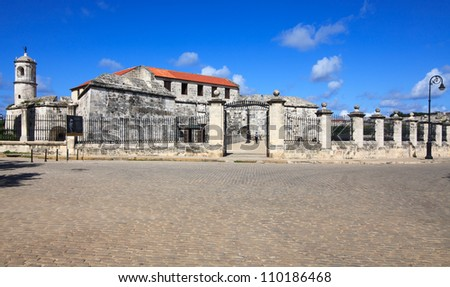 Oldest fortress in Cuba - castillo de la Real Fuerza. Historic center of Havana. Cuba.