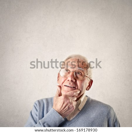 Oldie Thinking - stock photo
