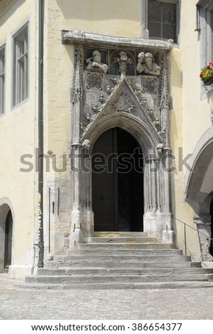 Olds town hall in Regensburg, Germany