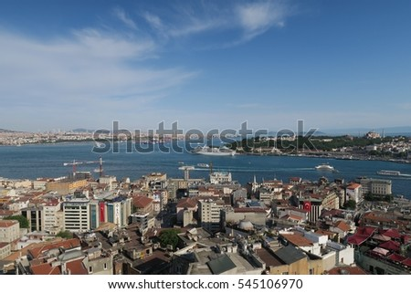Oldtown of Istanbul and the Bosphorus in Turkey