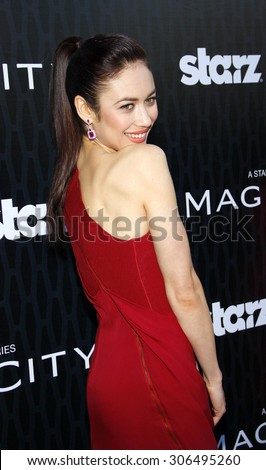 Olga Kurylenko at the Los Angeles premiere of Starz Series 'Magic City' held at the DGA Theater in Hollywood, USA on March 20, 2012. - stock photo